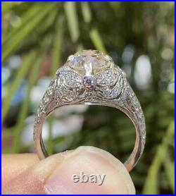 1.69ct Old Mine Cut Certified Diamond Vintage Style Engagement Ring