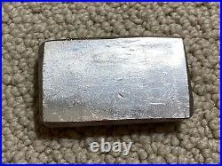 10 Oz ENGELHARD Vintage Old Style. 999 Fine Poured Silver Collector Bar