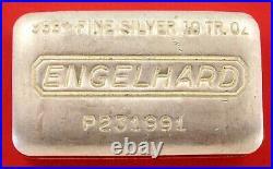 10 oz Vintage Engelhard. 999 Fine Silver Old Pour Loaf Style Bar No P231991