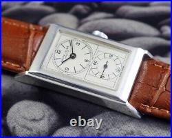 1940s FAVRE LEUBA DOCTORS PRINCE STYLE WINDING SWISS MENS USED OLD VINTAGE WATCH