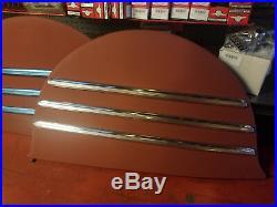 1941-48 Chevy Fleetline Fender Skirts W Trim Lowrider Bomb Hot Rod Rat Custom
