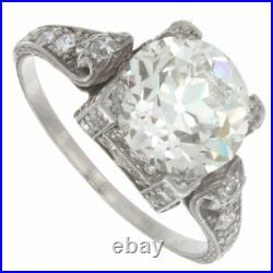 2.30ct Certified Old European Cut Diamond Vintage Style Engagement Ring