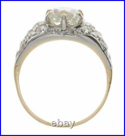 2.34ct Certified Old Mine Cut Vintage Style Diamond Engagement Ring