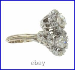 2.49ct Certified Old European Cut Diamond French Antique Style Cocktail Ring