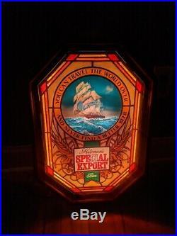 #2 Vintage Heilemans Special Export Beer Motion Sign Bar Light Old Style