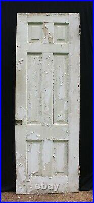 26x78 Antique Vintage Old SOLID Wood Wooden Interior Door Panel Colonial Style