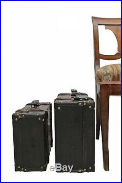 2x Koffer Holzkoffer Holz Nostalgie Antik-Stil Oldtimer braun vintage style