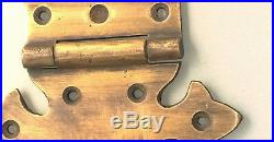 4 Large hinges vintage aged old style solid Brass DOOR box old look heavy 11 B
