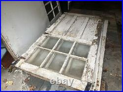 4 vintage Antique carriage house barn style Garage doors with old glass, 1900ish