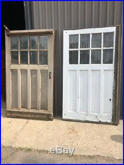 4 vintage c1900 carriage house barn style doors w track 84/48 old glass 9/13