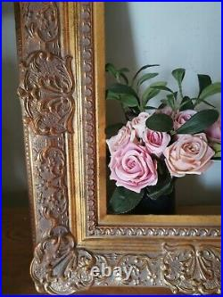 5 Wide Baroque Ornate Vtg Style Gold Gilt Frame 12 x 16. Old Masters Look
