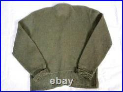 #506 Vintage Milano Kurt Cobain Style Mohair Old Man Cardigan Sweater Mens Sage