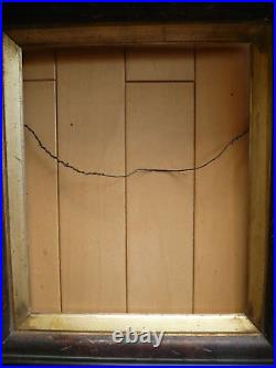 ANTIQUE FRAME 19th CENTURY OLD FRAMING, VICTORIAN EASTLAKE Style with GOLD LINER