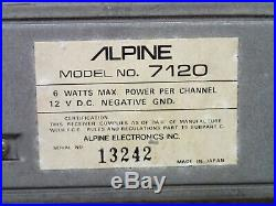 Alpine 7120 Vintage Old School Shaft Style Car Stereo