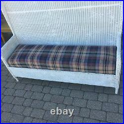 AntQ C. 1900s-1920s TALL OLD WICKER SETTLE BENCH HALLSEAT/PORCH-BAR HARBOR STYLE