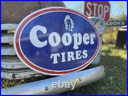 Antique Vintage Old Style Cooper Tires Sign