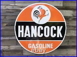 Antique Vintage Old Style Hancock Gasoline 40