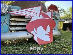 Antique Vintage Old Style Mercury Logo Sign