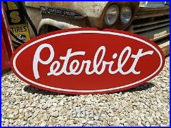Antique Vintage Old Style Peterbilt Sign