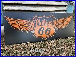 Antique Vintage Old Style Phillips 66 Aero Wings Sign