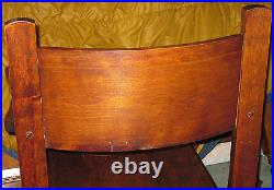 Antique Wood Barrel Style Captains Chair Carved Old Man Winter Lion & Claw Feet
