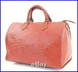 Auth VTG LOUIS VUITTON Speedy 30 Brown Epi Boston Hand Bag Old Style #32117