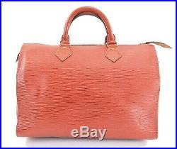 Auth VTG LOUIS VUITTON Speedy 30 Brown Epi Boston Handbag Old Style #32117