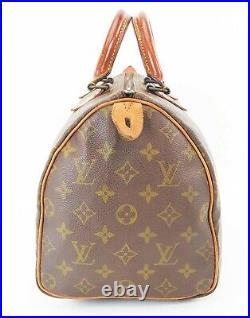 Auth VTG LOUIS VUITTON Speedy 30 Monogram Boston Hand Bag Purse Old Style #37190