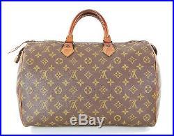 Auth VTG LOUIS VUITTON Speedy 35 Monogram Boston Hand Bag Purse Old Style #33644