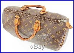 Auth VTG LOUIS VUITTON Speedy 35 Monogram Boston Hand Bag Purse Old Style #35297