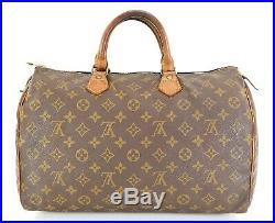 Auth VTG LOUIS VUITTON Speedy 35 Monogram Boston Handbag Purse Old Style #35607