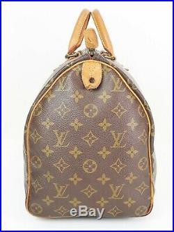 Auth VTG LOUIS VUITTON Speedy 40 Monogram Boston Hand Bag Purse Old Style #34999