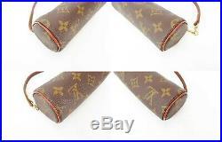 Auth Vintage LOUIS VUITTON Monogram Mini Pochette for Papillon Old Style #34350B