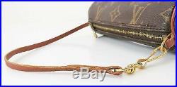Auth Vintage LOUIS VUITTON Monogram Mini Pochette for Papillon Old Style #6143A