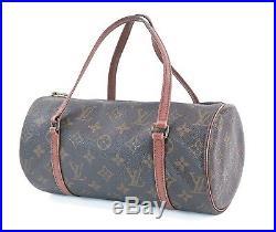 Auth Vintage LOUIS VUITTON Papillon 26 Monogram Hand Bag Purse Old Style #30877
