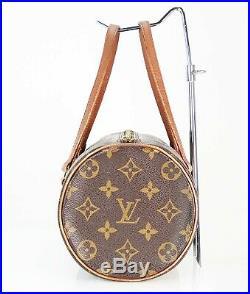 Auth Vintage LOUIS VUITTON Papillon 26 Monogram Handbag Purse Old Style #34315
