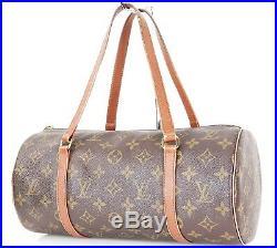 Auth Vintage LOUIS VUITTON Papillon 30 Monogram Hand Bag Purse Old Style #33059