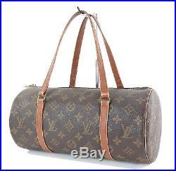 Auth Vintage LOUIS VUITTON Papillon 30 Monogram Hand Bag Purse Old Style #33817