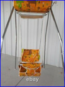 Baby swing crank wind up antique vintage old style. Strolee cradle crib