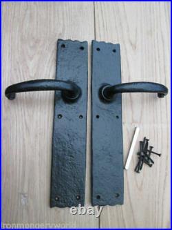 Black Antique Vintage Old Style Barn Stable Large Oak Wooden Door Handles