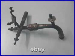 Brass Tap Vintage Spigot Peacock Style Handle Faucet Barrel Rare Decorative Old