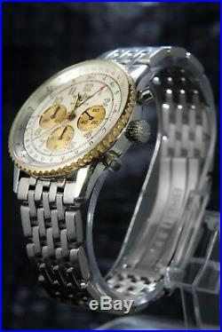 Breitling Old Style Navitimer Chronograph Automatic RARE Gold/Steel REF D30022