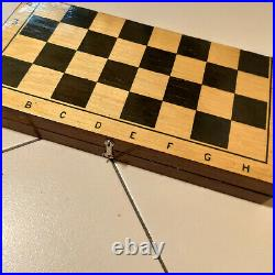 Chess Vintage USSR Soviet Set Wooden Russian EAST STYLE Antique Old Rare Big