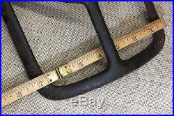 Childs Saddle rack bracket old flat square style reins harness hook vintage