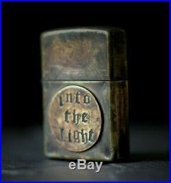 Custom Distressed Old English Vintage Bronze Patina Style Oxidised Zippo Lighter