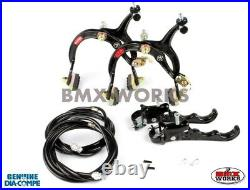 Dia-Compe MX1000 MX120 Black Brake Set Old Vintage School BMX Style Brakes