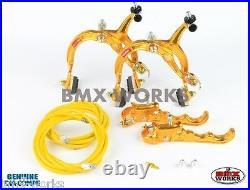 Dia-Compe MX1000 MX120 Gold Brake Set Old Vintage School BMX Style Brakes