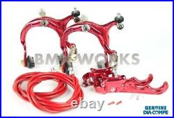 Dia-Compe MX883 MX120 Red Brake Set Old Vintage School BMX Style Brakes
