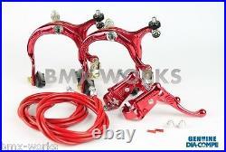 Dia-Compe MX883 MX121 Red Brake Set Old Vintage School BMX Style Brakes