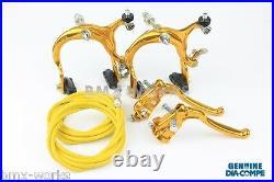 Dia-Compe MX883 MX128 Gold Brake Set Old Vintage School BMX Style Brakes